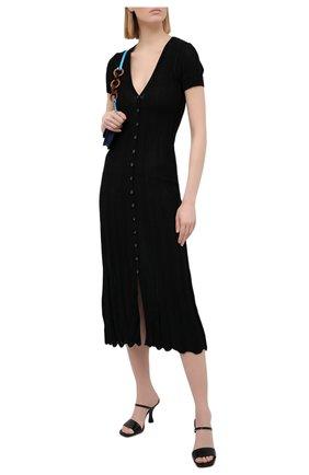 Женское хлопковое платье JACQUEMUS черного цвета, арт. 211KN20/200990 | Фото 2