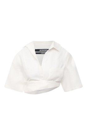 Женская льняная рубашка JACQUEMUS белого цвета, арт. 211SH08/108114 | Фото 1