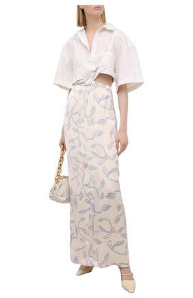 Женская льняная рубашка JACQUEMUS белого цвета, арт. 211SH08/108114 | Фото 2