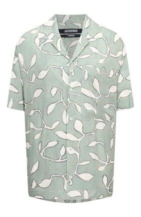 Женская рубашка из вискозы JACQUEMUS светло-зеленого цвета, арт. 215SH21/111543 | Фото 1