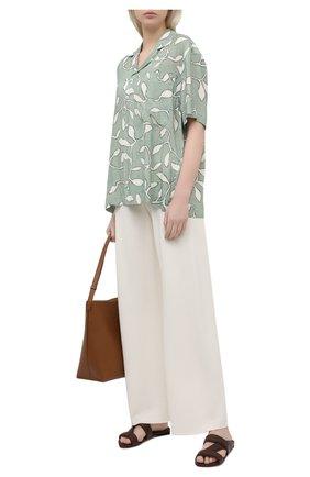 Женская рубашка из вискозы JACQUEMUS светло-зеленого цвета, арт. 215SH21/111543 | Фото 2