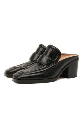 Женские кожаные мюли BOTTEGA VENETA черного цвета, арт. 651366/V0G80 | Фото 1