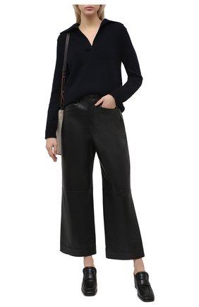 Женские кожаные мюли BOTTEGA VENETA черного цвета, арт. 651366/V0G80 | Фото 2
