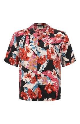 Мужская рубашка SAINT LAURENT разноцветного цвета, арт. 638555/Y01FB | Фото 1 (Материал внешний: Лиоцелл; Длина (для топов): Стандартные; Случай: Повседневный)