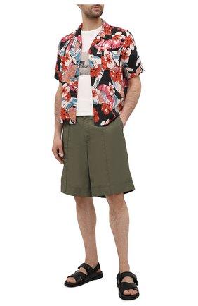 Мужская рубашка SAINT LAURENT разноцветного цвета, арт. 638555/Y01FB | Фото 2 (Материал внешний: Лиоцелл; Длина (для топов): Стандартные; Случай: Повседневный)