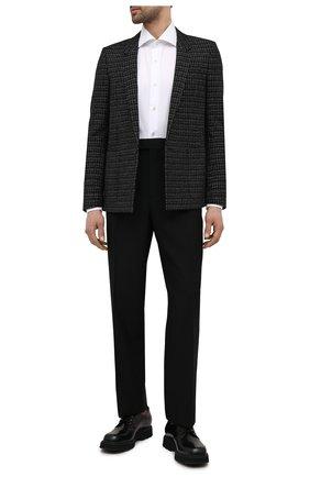 Мужской пиджак из шерсти и вискозы SAINT LAURENT черного цвета, арт. 644409/Y1C81 | Фото 2