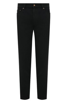 Мужские джинсы SAINT LAURENT черного цвета, арт. 644678/YY899 | Фото 1 (Стили: Гранж; Длина (брюки, джинсы): Стандартные; Силуэт М (брюки): Прямые; Материал внешний: Хлопок; Кросс-КТ: Деним)