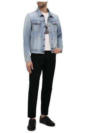 Мужские джинсы SAINT LAURENT черного цвета, арт. 644678/YY899 | Фото 2 (Стили: Гранж; Длина (брюки, джинсы): Стандартные; Силуэт М (брюки): Прямые; Материал внешний: Хлопок; Кросс-КТ: Деним)