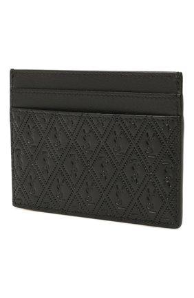 Мужской кожаный футляр для кредитных карт SAINT LAURENT черного цвета, арт. 647148/18G1Z | Фото 2