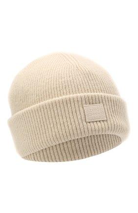 Мужская шерстяная шапка ACNE STUDIOS бежевого цвета, арт. C40134/M | Фото 1