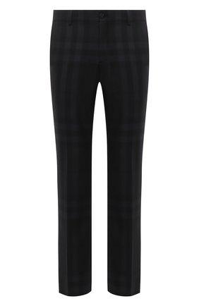 Мужские шерстяные брюки BURBERRY серого цвета, арт. 8036702   Фото 1