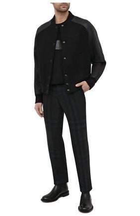 Мужские шерстяные брюки BURBERRY серого цвета, арт. 8036702   Фото 2