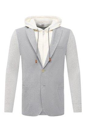 Мужской хлопковый пиджак ELEVENTY PLATINUM светло-серого цвета, арт. C76GIAC05 TES0C167   Фото 1