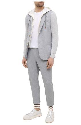 Мужской хлопковый пиджак ELEVENTY PLATINUM светло-серого цвета, арт. C76GIAC05 TES0C167   Фото 2
