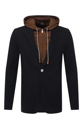 Мужской хлопковый пиджак ELEVENTY PLATINUM темно-синего цвета, арт. C76GIAC05 TES0C167   Фото 1