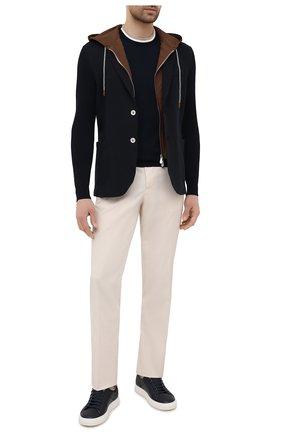 Мужской хлопковый пиджак ELEVENTY PLATINUM темно-синего цвета, арт. C76GIAC05 TES0C167   Фото 2