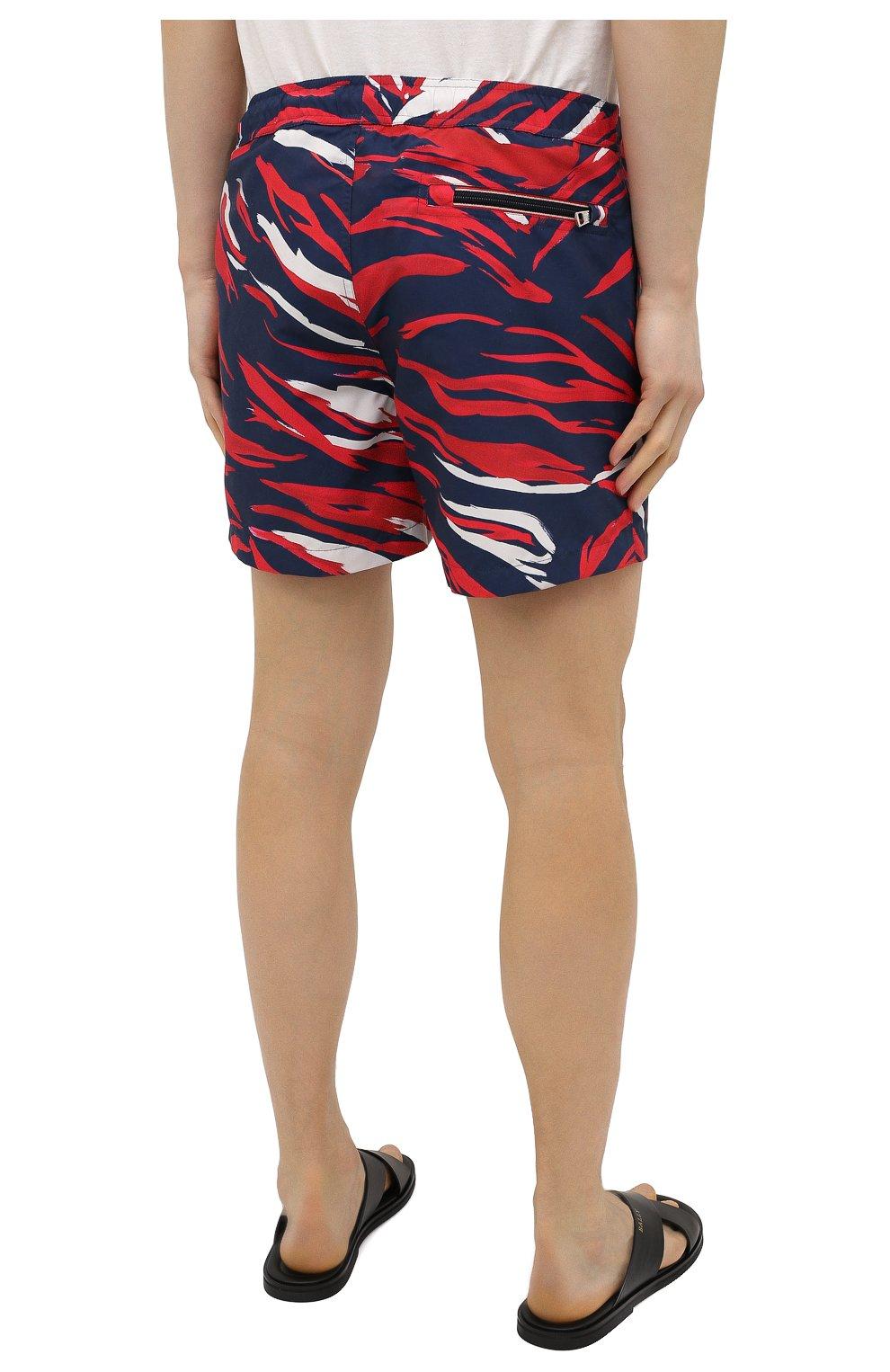 Мужские плавки-шорты MONCLER разноцветного цвета, арт. G1-091-2C708-00-5956L | Фото 4 (Материал внешний: Синтетический материал; Принт: С принтом; Мужское Кросс-КТ: плавки-шорты)