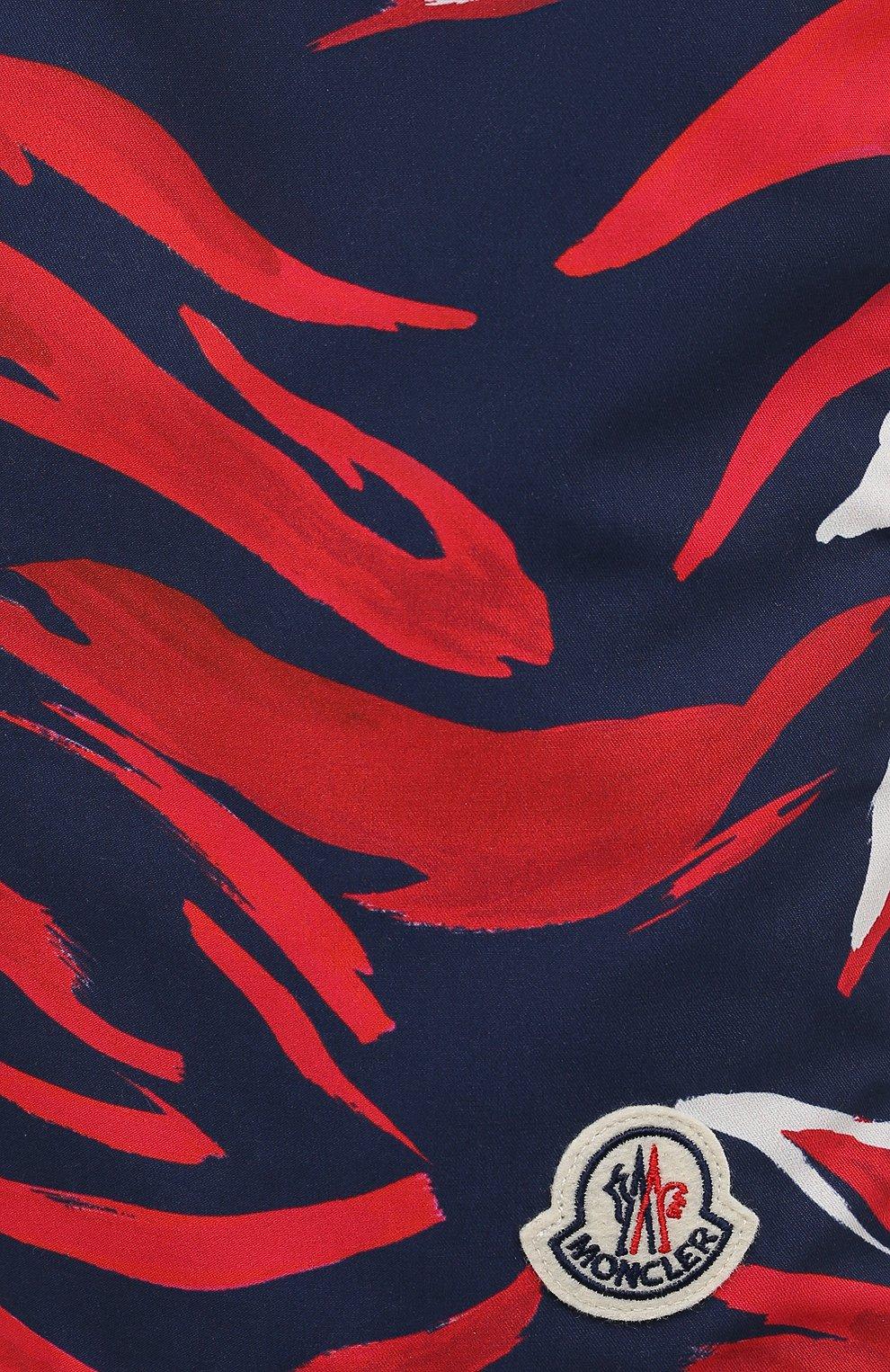 Мужские плавки-шорты MONCLER разноцветного цвета, арт. G1-091-2C708-00-5956L | Фото 5 (Материал внешний: Синтетический материал; Принт: С принтом; Мужское Кросс-КТ: плавки-шорты)