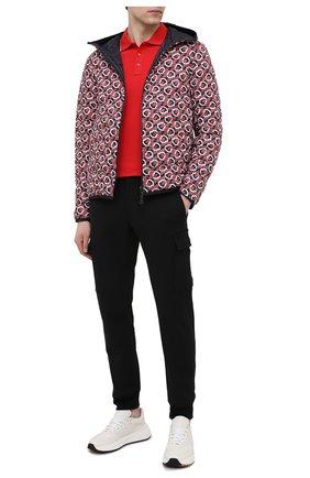 Мужское хлопковое поло MONCLER красного цвета, арт. G1-091-8A703-00-84556 | Фото 2