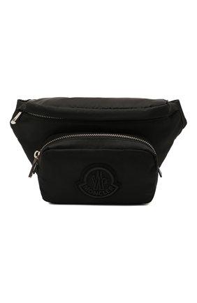 Мужская текстильная поясная сумка durance MONCLER черного цвета, арт. G1-09A-5M702-00-02ST8 | Фото 1 (Ремень/цепочка: На ремешке; Материал: Текстиль)