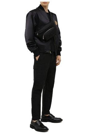 Мужская текстильная поясная сумка durance MONCLER черного цвета, арт. G1-09A-5M702-00-02ST8 | Фото 2 (Ремень/цепочка: На ремешке; Материал: Текстиль)
