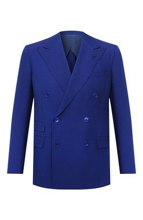 Мужской шелковый пиджак RALPH LAUREN синего цвета, арт. 798829733 | Фото 1