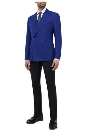 Мужской шелковый пиджак RALPH LAUREN синего цвета, арт. 798829733 | Фото 2