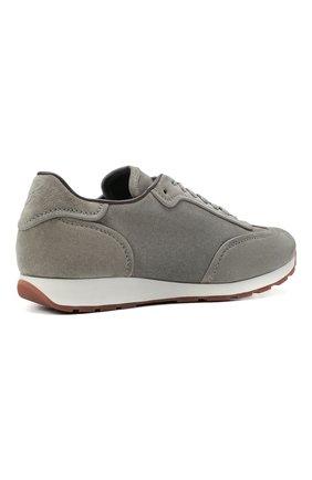 Мужские замшевые кроссовки BRIONI серого цвета, арт. QHI90L/P0711   Фото 4
