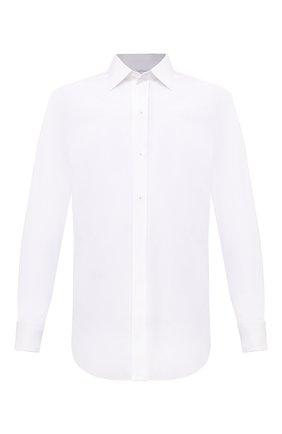Мужская хлопковая сорочка BRIONI белого цвета, арт. RCXD0L/P006B | Фото 1