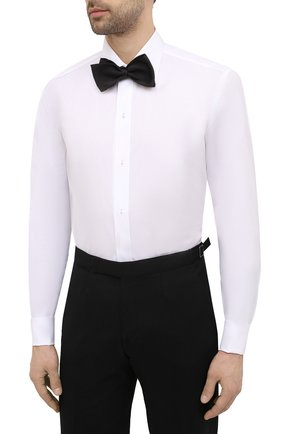 Мужская хлопковая сорочка BRIONI белого цвета, арт. RCXD0L/P006B | Фото 4