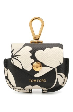 Кожаный чехол для airpods pro TOM FORD черно-белого цвета, арт. Y0304T-ICL031 | Фото 1