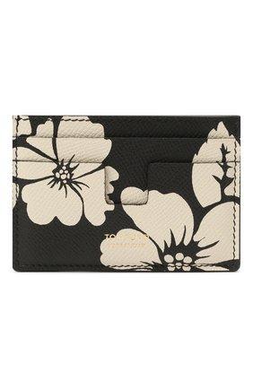 Мужской кожаный футляр для кредитных карт TOM FORD черно-белого цвета, арт. Y0232T-ICL031 | Фото 1