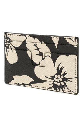 Мужской кожаный футляр для кредитных карт TOM FORD черно-белого цвета, арт. Y0232T-ICL031 | Фото 2