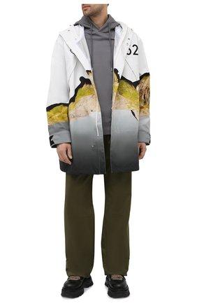 Мужские хлопковые брюки 2 moncler 1952 MONCLER GENIUS хаки цвета, арт. G1-092-2A723-00-5499M | Фото 2 (Длина (брюки, джинсы): Стандартные; Материал внешний: Хлопок; Случай: Повседневный; Стили: Гранж)