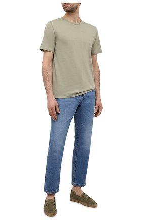 Мужские замшевые эспадрильи CASTANER хаки цвета, арт. 021837 | Фото 2