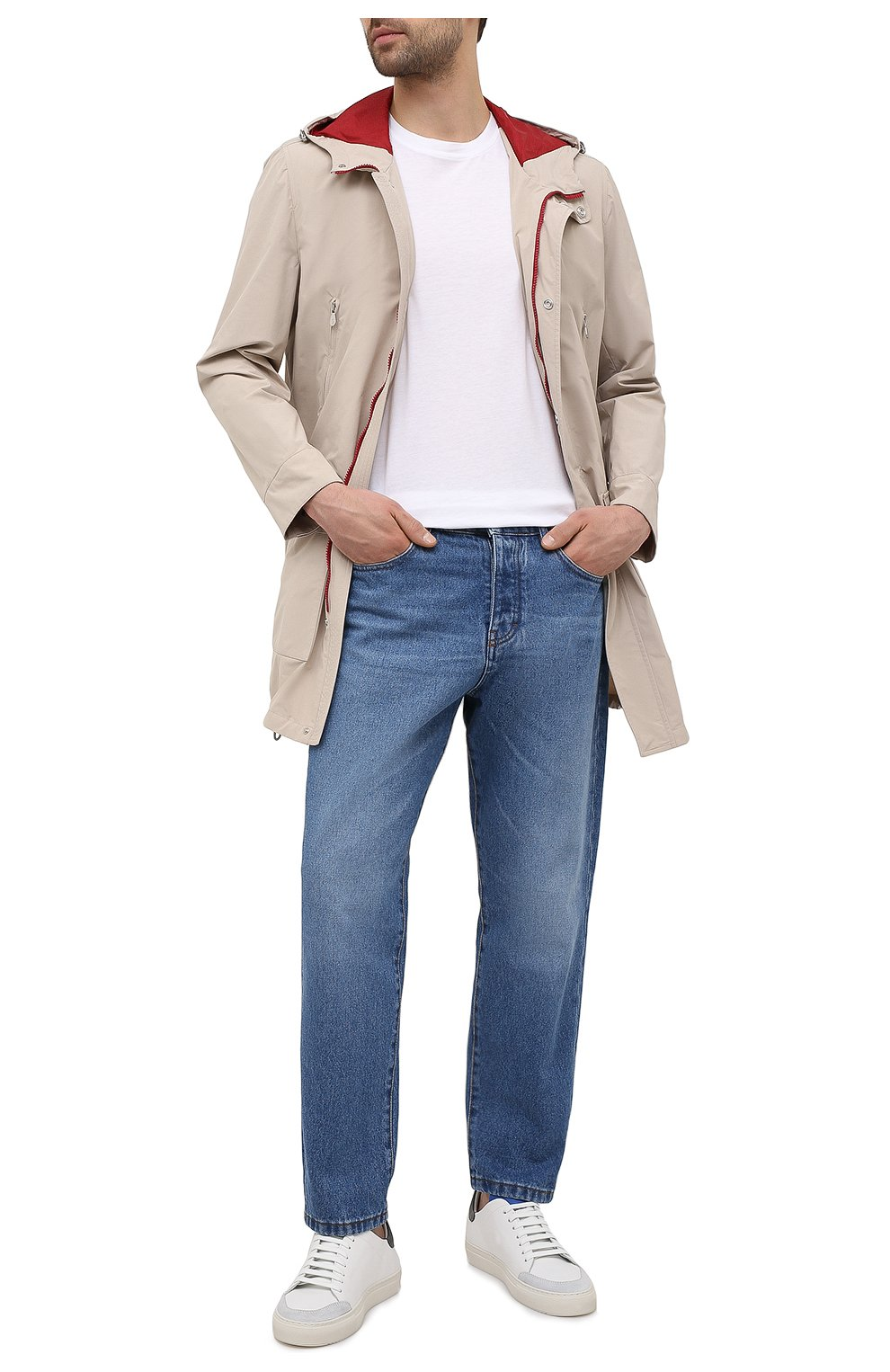 Мужские кожаные кеды AXEL ARIGATO белого цвета, арт. 28488 | Фото 2