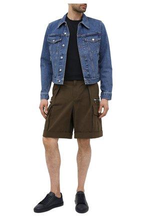 Мужские кожаные кеды AXEL ARIGATO темно-синего цвета, арт. 28067 | Фото 2