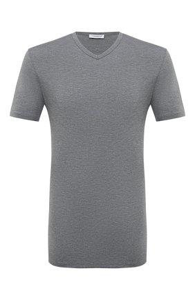Мужская футболка ZIMMERLI серого цвета, арт. 1346-700 | Фото 1