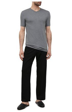 Мужская футболка ZIMMERLI серого цвета, арт. 1346-700 | Фото 2