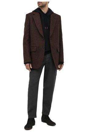 Мужские кожаные челси PREMIATA черного цвета, арт. 31832/SKIPPER B. | Фото 2 (Подошва: Плоская; Мужское Кросс-КТ: Сапоги-обувь, Челси-обувь; Материал внутренний: Натуральная кожа)