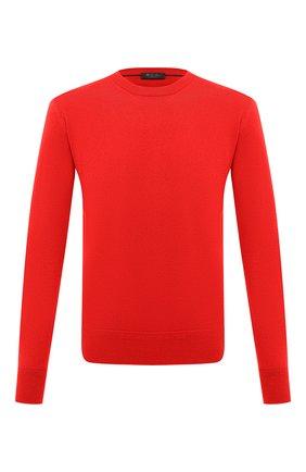 Мужской кашемировый свитер LORO PIANA красного цвета, арт. FAL3426 | Фото 1