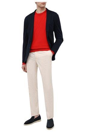 Мужской кашемировый свитер LORO PIANA красного цвета, арт. FAL3426 | Фото 2
