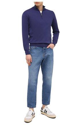 Мужской хлопковый джемпер CANALI темно-синего цвета, арт. C0015/MK00145 | Фото 2