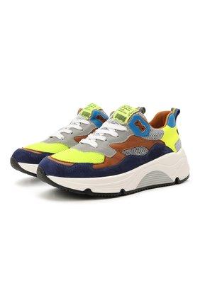 Детские замшевые кроссовки RONDINELLA разноцветного цвета, арт. 11712/6058/31-33 | Фото 1