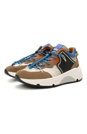 Детские замшевые кроссовки RONDINELLA коричневого цвета, арт. 11783/6298/31-33 | Фото 1