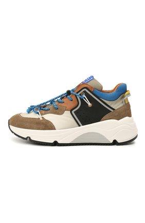 Детские замшевые кроссовки RONDINELLA коричневого цвета, арт. 11783/6298/31-33 | Фото 2