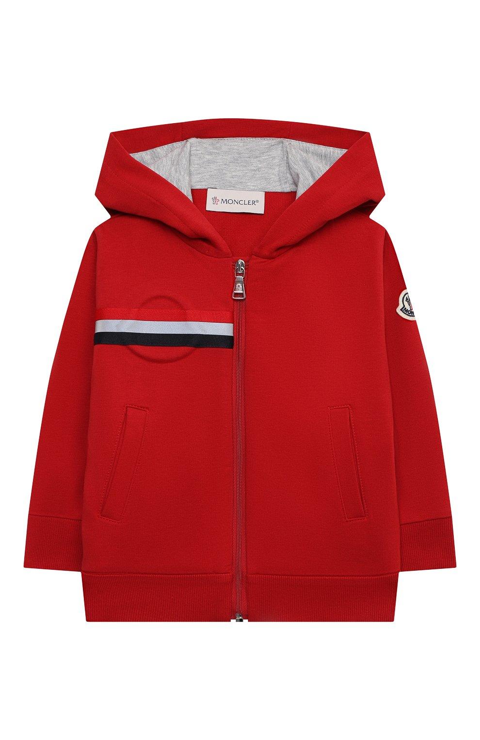 Детский комплект из толстовки и брюк MONCLER красного цвета, арт. G1-951-8M741-20-809AC   Фото 2
