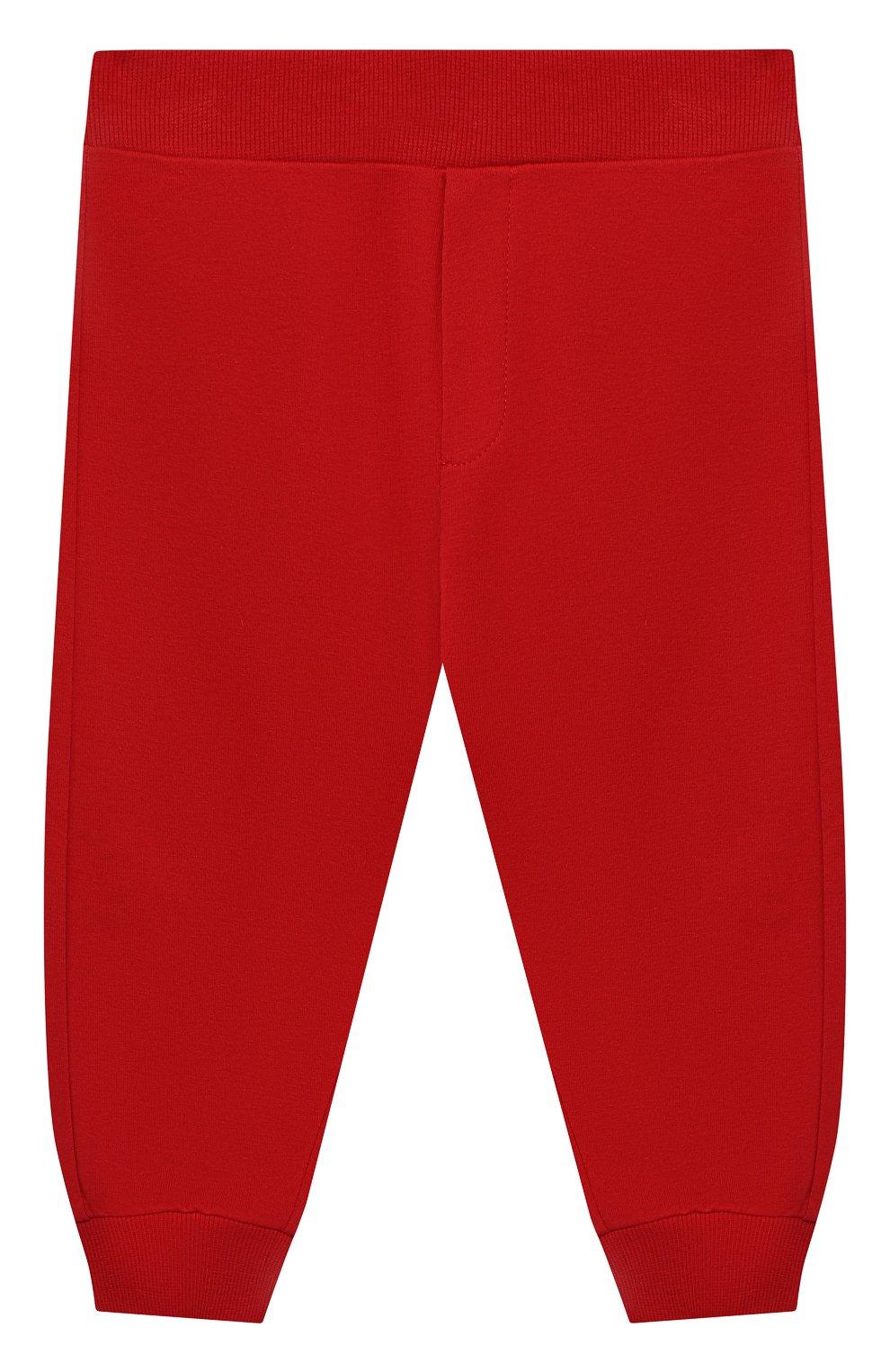 Детский комплект из толстовки и брюк MONCLER красного цвета, арт. G1-951-8M741-20-809AC   Фото 4