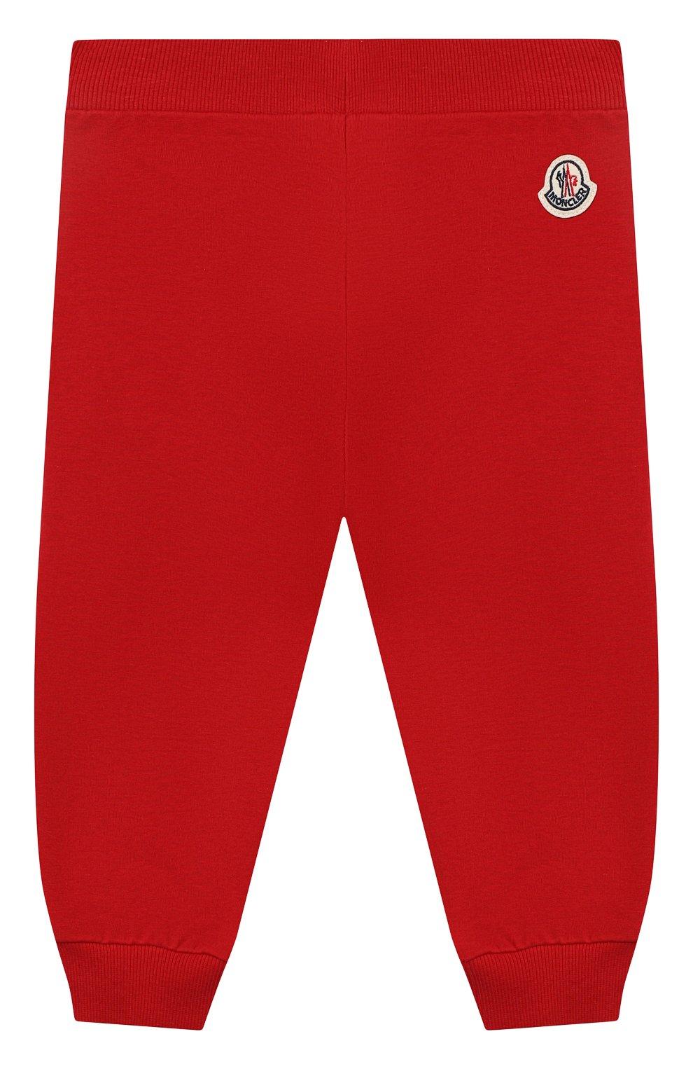 Детский комплект из толстовки и брюк MONCLER красного цвета, арт. G1-951-8M741-20-809AC   Фото 5