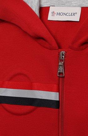 Детский комплект из толстовки и брюк MONCLER красного цвета, арт. G1-951-8M741-20-809AC   Фото 6